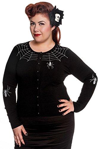 Hell Bunny Plus Spooky Spider Black Cardigan (2XL)