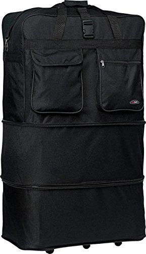 Soft Duffelbag Suitcase Luggage With Wheels Suitcase, 40in, Black Deal (Large Image)