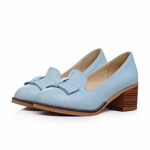Elegante Zapatos Azul Pumps Diario Mujer MissSaSa p7vq55