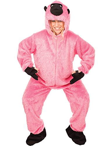 [Adult Deluxe Pink Gorilla Halloween Costume Ape Animal Halloween] (Deluxe Pink Gorilla Costumes)
