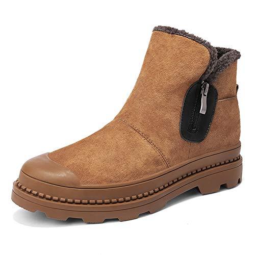 LOVDRAM Stiefel Männer Winter Schuhe Männer Hohe Herren Schuhe Baumwolle Warme Baumwolle Schuhe Winter Schneeschuhe Martin Stiefel Männer