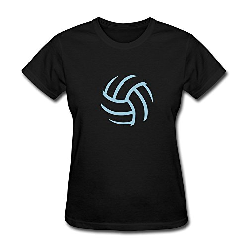 CHANGQING Stick Figure About A Volleyball T-Shirt For Womens XXL Black