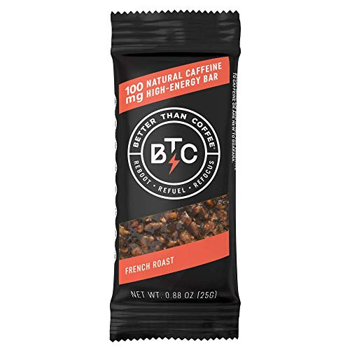 (Better Than Coffee Energy Bars - Gluten Free, Vegan, Low Sugar, Low Carb with Added Plant Protein, 100 mg Caffeine Energy Bars - French Roast (12 count))