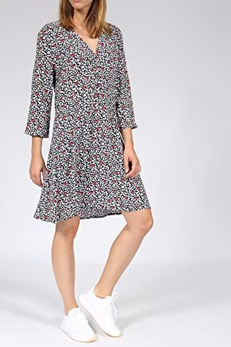 Leo Herz mit Mehrfarbig Viskose Hemdblusenkleid aus Print bloom 4fFyTXqcHw