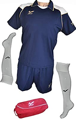 ZICO ESPAÑA Conjunto equipación Fútbol Hombre Azul Marino ...
