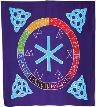 Fortune Telling Toys Altar Cloth Rune Mother or scarve 36'' x 36''