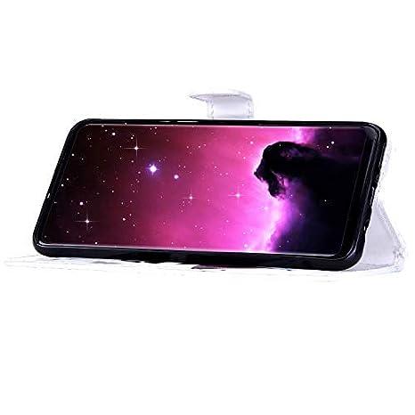 Uposao Compatible avec Samsung Galaxy A40 Coque Housse en Cuir /Étui /à Rabat,Imprim/é Color/é Motif Coque Pochette Portefeuille Cartes Slots Bookstyle Flip Support Coque Smart Cover Case,Chat Brun