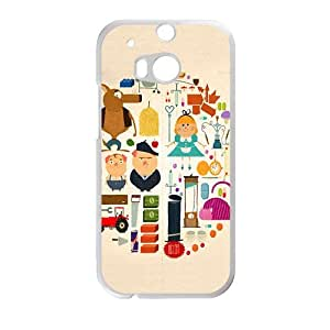 cute circle lovely personalized high quality cell phone case for HTC M8