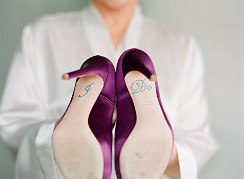 I DO Wedding Shoe Stickers in Blue - Perfect Something blue to add to your Bridal Shoes