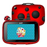 [Upgraded] GHIA Beetle Android Kids Tablet, 7inch Quad Core Tablet for Kids with WiFi, Android 8.1 Oreo Google Certified OS, Preinstalled Iwawa App, Long Life Battery, 1GB+16GB, 1024x600 HD Panel(Red)