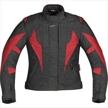Alpinestars Stella P1 Sport Touring Drystar Textile Jacket, Gender: Womens, Size: Md, Apparel Material: Leather, Primary Color: Red 321759-13-M