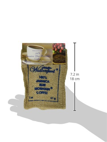Wallenford Roasted Whole Bean 100% Jamaica Blue Mountain Coffee, 2oz Bag