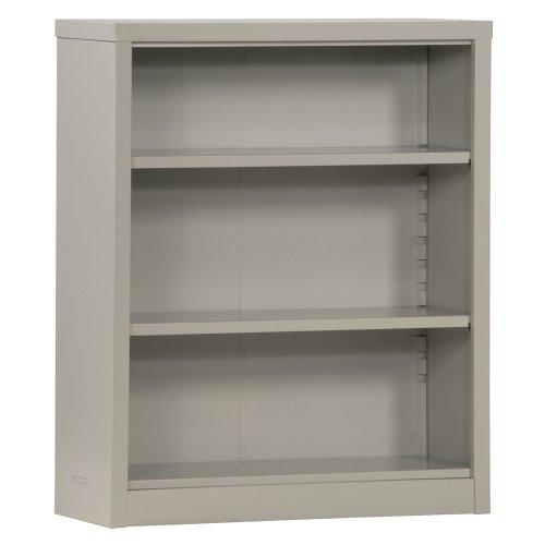 (Sandusky Lee BQ10351342-05 Dove Gray Steel Powder Coat Snapit Bookcase with 2 Adjustable Shelves, Fixed Bottom Shelf, 200 lb. Per Shelf Capacity, 42