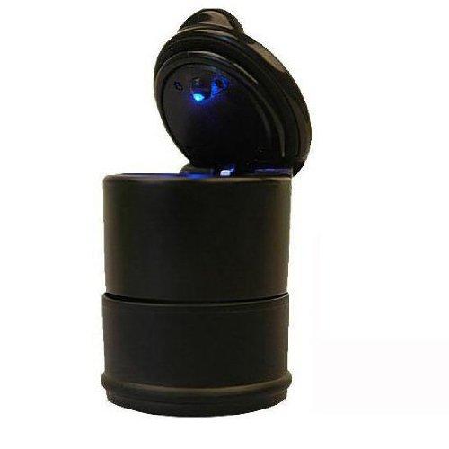 TOOGOO(R) KFZ Auto Aschenbecher fuer Getraenkehalter universal PKW mit LED Lampe