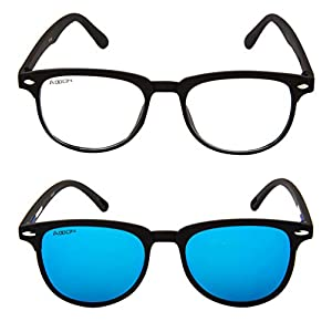 ADDON EYE WEAR Combo Mirrored Flat Unisex Sunglasses – (NV 101)