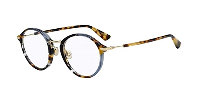 a3b37339c9d5 Amazon.com  Dior Essence 6 - Blue Havana 0JBW Eyeglasses  Clothing
