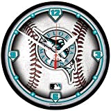 Florida Marlins Wall Clock - Licensed MLB Baseball Merchandise