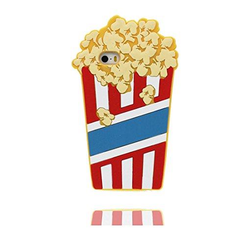 iPhone 5S Hülle, Handyhülle für iPhone 5G 5 SE 5C Case, [ flexibles TPU materielles ] 3D Popcorn case Staub-Beleg-Kratzer beständig & Ring Ständer für Handy