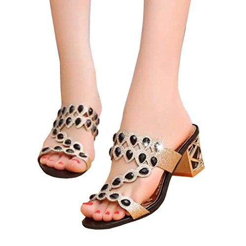 9a6dbdec8 WOCACHI Christmas Women Shoes Summer Big Rhinestone Sandals Beach Sandal