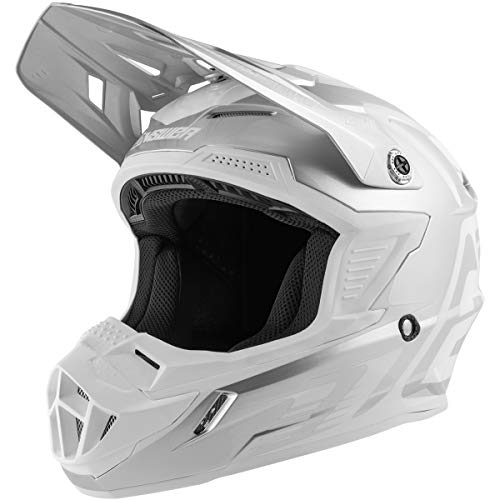 Answer Racing A19 Ar1 Edge Adult Off-Road Motorcycle Helmet - Fog/White/Large