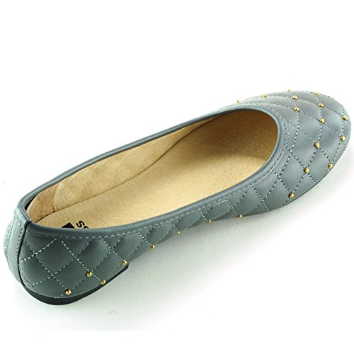 Alpine Swiss Womens Genuine Leather Lined Petunia Ballet Flats Grey 1nUc0jl