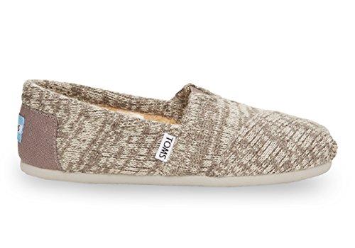 Toms Women's Classic Knit Grey Casual Shoe 9 Women US