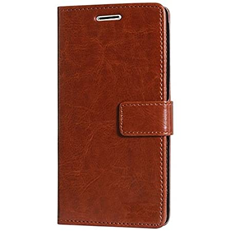 Vinnx Vintage Leather Wallet Flip Cover for Samsung Galaxy On8 nbsp; Brown  Mobile Phone Cases   Covers