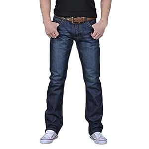 Vaqueros Rectos Anchos para Hombre Loose Fit Series Hombre Pantalones Vaqueros Relaxed Jeans STRIR