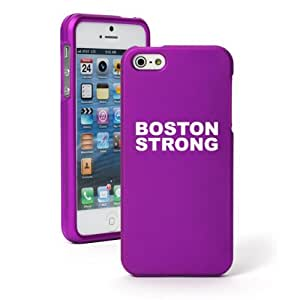 "Apple iPhone 6 Plus (5.5"") Snap On 2 Piece Rubber Hard Case Cover Boston Strong (Purple)"