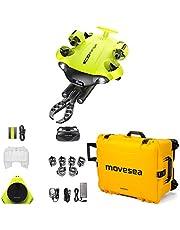 Drone FISH V6S 100 m kabel 64 GB afstandsbediening 2 opladers VR bril HDMI robot arm bescherming koffer geel met wielen QYSEA 8500486