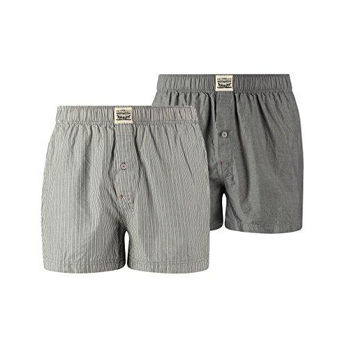Pack Anthracite Woven Levis Pant Underwear 738 Boxershorts Denim Men 12 Boxer Er aBqxwT