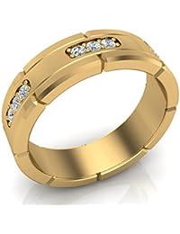 Mens Diamond Wedding Band Semi Eternity Ring 18K Gold 045 GSI
