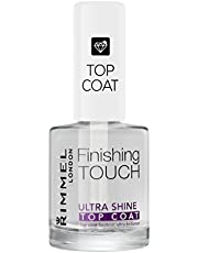Rimmel London Top Coat Ultra Shine Finishig Touch ad Asciugatura Rapida per Smalto Unghie, Trasparente, 12 ml