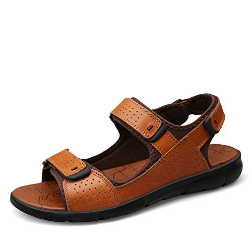 The small cat Brand Sandal Men Summer Beach Shoes Men Breathable Flat Sandals Size ()