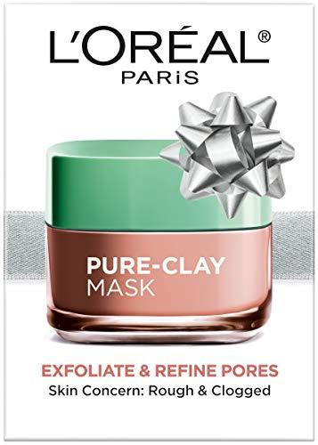 LOréal Paris Skincare Pure-Clay Face Mask with Red Algae for Clogged Pores to Exfoliate And Refine Pores, Holiday Gift, 1.7 oz.