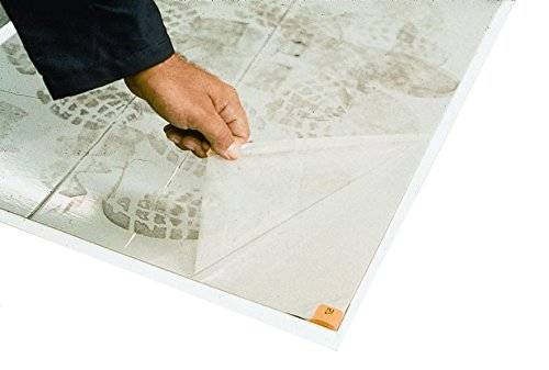 Plasticover Sticky Floor Protection Clean Room Mats, 24″ Wide by 36″ Long, White, 30 Sheets per Mat (Pack of 2)