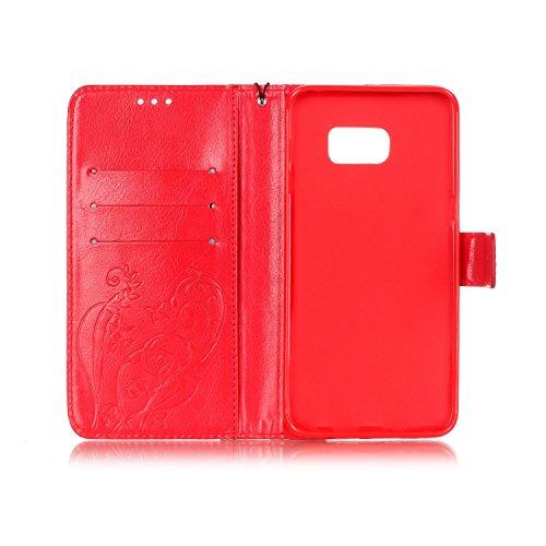 JIALUN-Personality teléfono shell Cubierta magnética de la caja de cuero de la PU del cierre magnético con la función de la cuerda y de la cartera de la ejecución para Samsung S6 Edge Plus Seguridad y Red