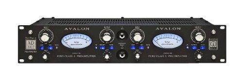 Avalon Design AD2022 B Black | Dual Mono Pure Class A Microphone DI (Dual Mono Microphone Preamp)