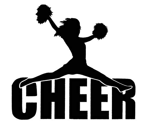 Cheerleader Decal Vinyl - Custom Cheer Vinyl Decal - Cheerleader Bumper Sticker, for Tumblers, Laptops, Car Windows - Cheerleading Design