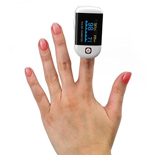 MedX5 OLED-Anzeige Finger Pulsoximeter, Pulsmessgerät, Fingerpulsoximeter, Oximeter, Pulsmesser, arterielle Sauerstoff- und Pulsmessung, Sauerstoffsättigung, SPO2 Messung am Finger