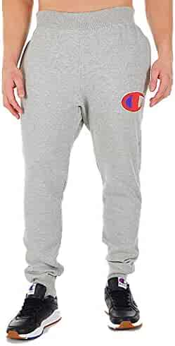 6e83395effd6 Champion Life Men s Reverse Weave Jogger Pants (Oxford Gray Big C Chenille  Logo