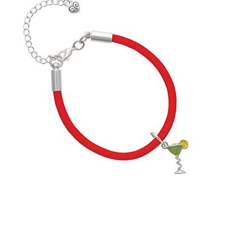 Tropical Drink - Lime Green Red Malibu Paracord Bracelet