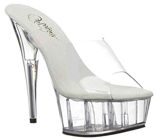 Pleaser DELIGHT-601 Clubwear Fashion Shoes, Slip/On 6