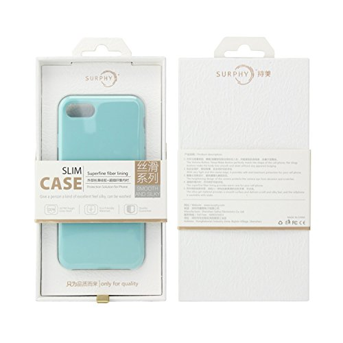 Funda iPhone 7 Plus,SURPHY Silicona Apple Funda Ultra Slim suave 5.5 Pulgadas Case líquido Gel iPhone 7 Plus Slim Fit Suave Protectora De La Caja para iphone 7 Plus 5.5 Azul Azul claro