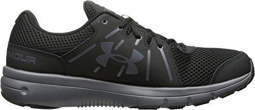 Under Armour Mens UA Dash RN 2 Black/Rhino Gray/Rhino Gray Athletic Shoe (Size 9 D(M) (Rhino Dash)