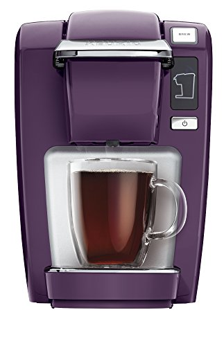 Keurig K15 Single-Serve Compact K-Cup Pod Coffee Maker, Black Plum