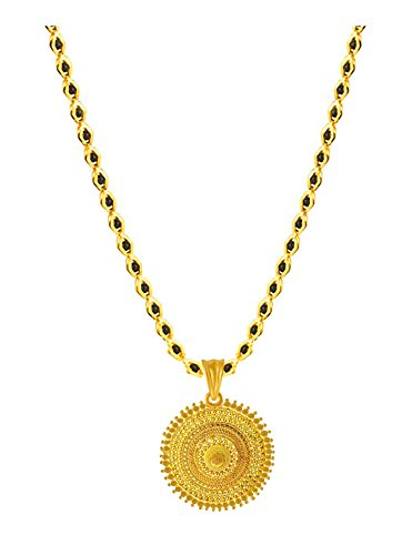 Buy Bfc One Gram Gold Plated Black Princess Diamond Chain Pendant Set For Women Online At Low Prices In India Amazon Jewellery Store Amazon In
