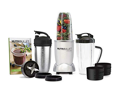 NutriBullet 1000 Watt PRIME Edition, 12-Piece High-Speed Blender/Mixer System, Includes Stainless Steel Insulated Cup, and Recipe Book