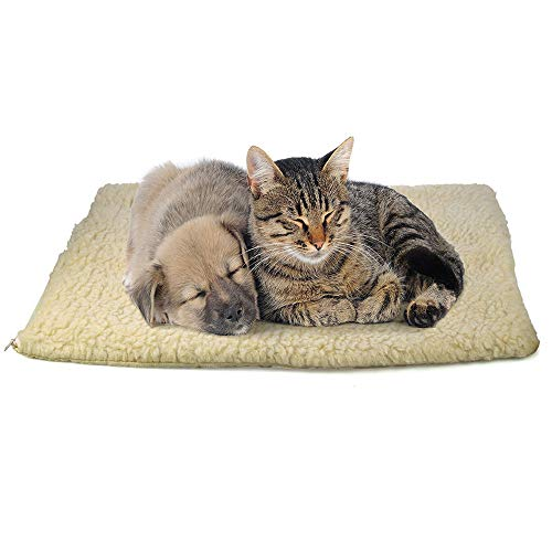 Vovomay Self Heating Dog Cat Pet Bed Thermal Washable No Electric Blanket Required (Kitty Thermo Heated Cat)
