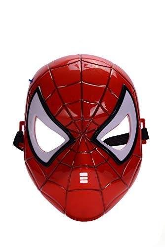 REINDEAR Comics Costume Superhero LED Light Eye Mask US Seller (Spider-Man)]()